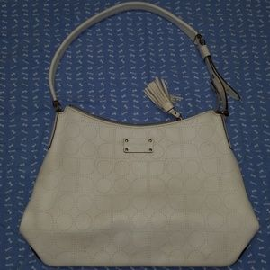 Kate Spade off-white leather handbag purse